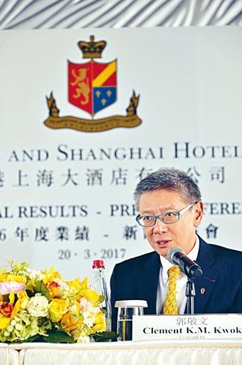 郭敬文期望翻新工程完成後,半島酒店房租可增長一倍。