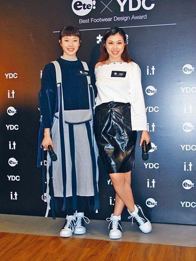 歐鎧淳與王曼喜都有意設計鞋履。