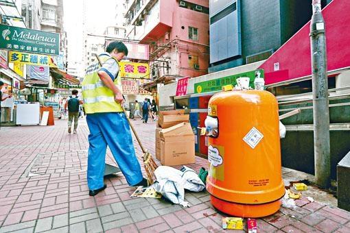 二○一九年之前,街上垃圾桶會減少四成。