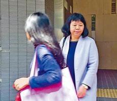 校長黃蓮鳳代表校董會出庭應訊。