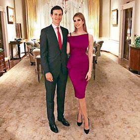 美國總統女婿庫什納、美國總統女兒伊萬卡。