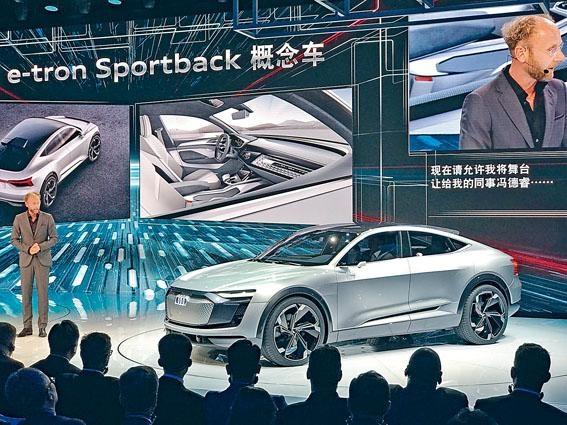 奧迪在上海車展帶來e-tronSportback全新電動概念SUV。