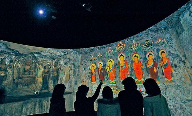 《人間淨土──走進敦煌莫高窟》以虛擬實境將莫高窟內的壁畫製成立體動畫。