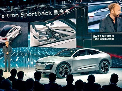 奧迪e-tron Sportback成了上海車展注目電動概念車,可望2019年投產。