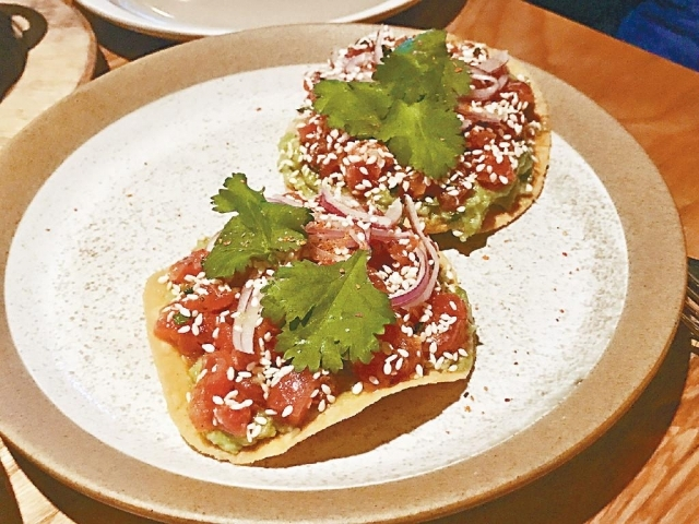 ■Tuna Poke Tostada($178,From Commissary)