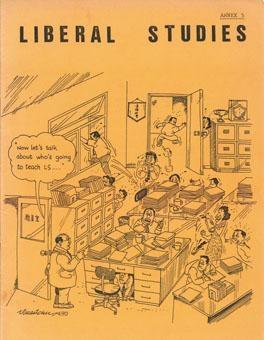 考評局九〇年出版小冊子介紹通識教育科,京力士在封面採用幽默風格的漫畫,不料遭教團批評。