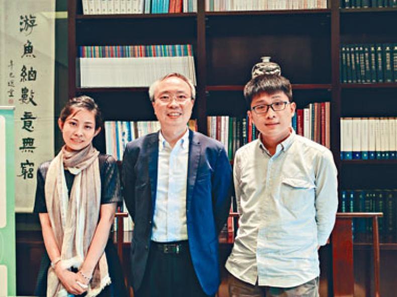 中大中文系助理教授麥欣恩、副系主任鄧思穎及博士研究生劉擇明,探討香港在「一帶一路」發展中的定位,強調粵語的重要。