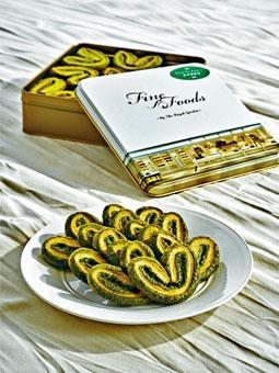 宇治抹茶蝴蝶酥每日限售五十盒,想買要趁早。($178\250g鐵罐裝)