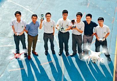 佛教大雄中學五位中四生,早前在「2017年全港校際『無人機』比賽」取得全場總冠軍。