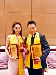 黎耀祥與郭可盈齊獲「十年全國觀眾最喜愛的影視明星獎」。