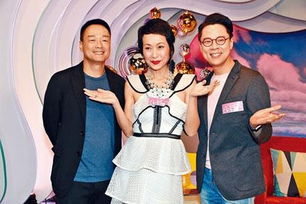 (左起)王喜、葉童與陳志雲,一起接受訪問。