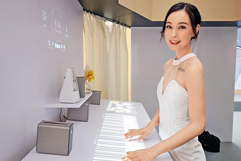 互動投影  桌面虛擬打機彈琴