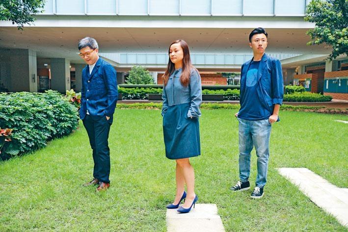 (左起)陳慶恩、陳維寧和盧定彰在這場合唱音樂沙龍碰頭。