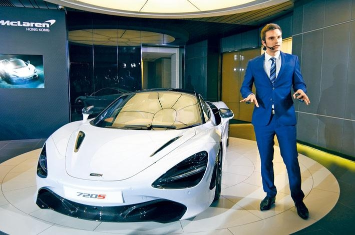 McLaren亞太區銷售經理Peter Sell向傳媒講解新車特色。