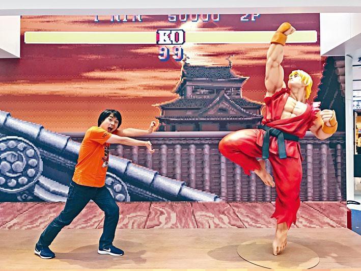 遊戲生產商CAPCOM製作助理綾野智章的「Chok波」,對抗阿Ken的「昇龍拳」!