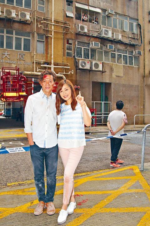黎諾懿與湯洛雯合演一場迷你倉爆炸戲。