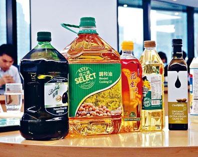 含塑化劑超標五個食油樣本。