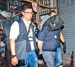 警方押同一名跌錢黨騙徒返寓所搜查。
