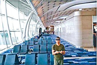 涉案男子公然在機場禁區玩航拍「自拍」。
