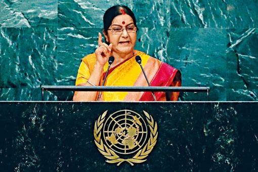 印度外長斯瓦拉吉聲稱已準備好同中方開戰。