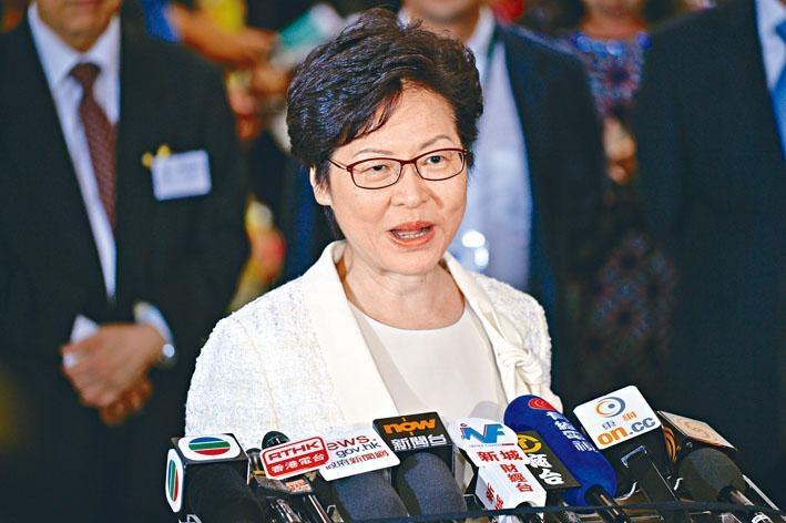 林鄭月娥表示,「三步走」方案得到中央支持,希望社會在未來兩個月聚焦聽取政府解說。