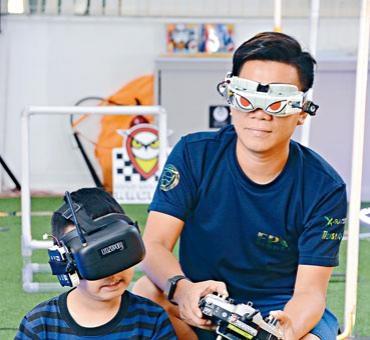 Hong Kong FPV Racers導師梁嘉麒最小的學生只有三歲。