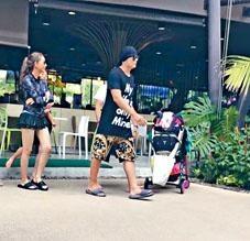 周杰倫、昆凌被網民拍得一家幸福同遊泰國。