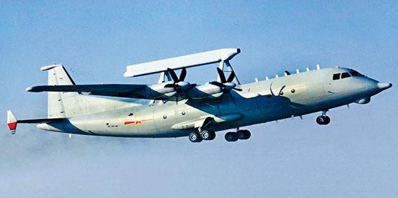 中國的「空警200」預警機近日首次出現在台灣島附近。