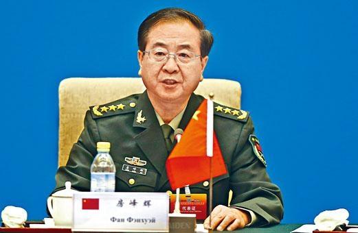 中央軍委委員房峰輝落馬。
