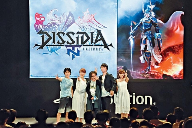 Square Enix遊戲搶風頭,圖為PS4《Dissidia Final Fantasy NT》舞台活動。