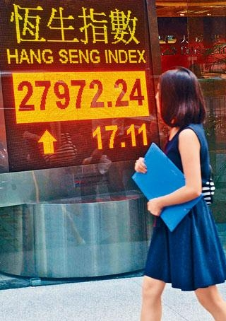 港股曾升穿28000點大關,可惜未能企穩。