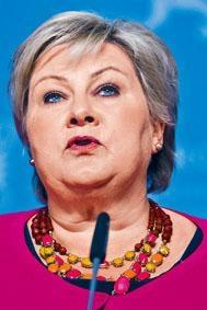 挪威女首相索爾貝格。