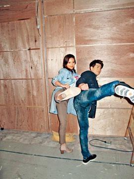 朱晨麗與伍允龍在新劇中會有動作戲。