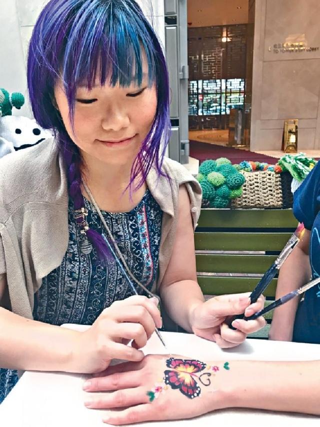同場有蝴蝶彩繪活動。
