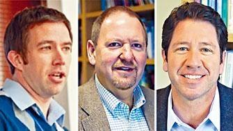 達特茅斯學院三名心理學教授凱利、希瑟頓與惠倫(左至右)。