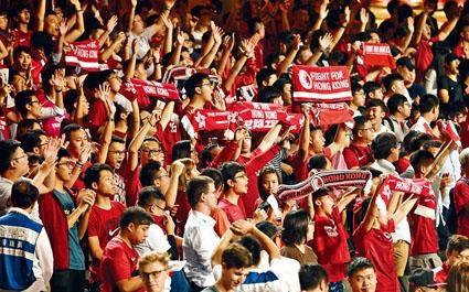 港足昨晚迎戰黎巴嫩,在開場奏國歌時,再有數十球迷發出噓聲。