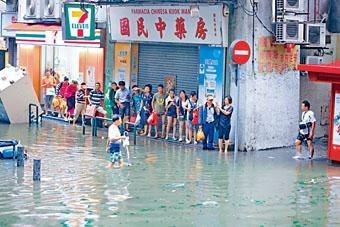 颱風「天鴿」今年八月直撲澳門,造成嚴重破壞。