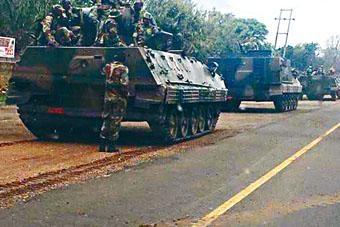 昨日有坦克駛向津國首都哈拉雷。