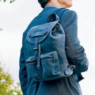 Longchamp灰色3D Homme背囊/$8,950。