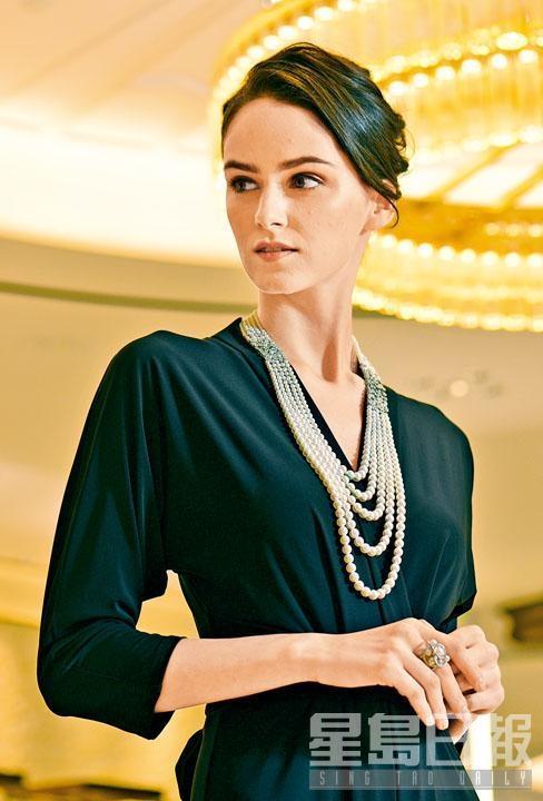 High Jewellery Collection 18K白金鑲鑽石配日本Akoya珍珠項鏈。