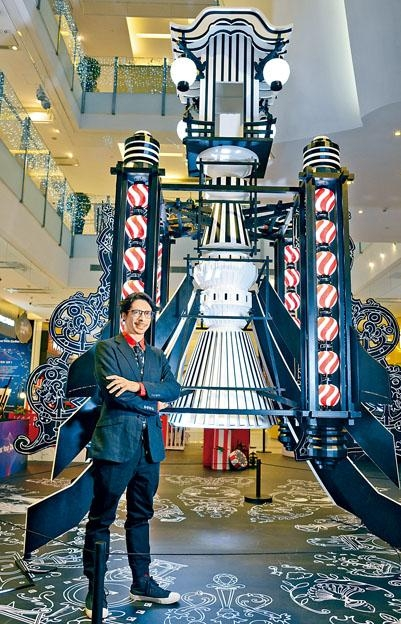 法國藝術家Nicolas Buffe創作的《火箭燈籠》藝術裝置。