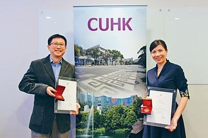 心理學系助理教授蘇可蔚及計算機科學與工程學系教授李浩文榮獲今屆中大博文教學獎。