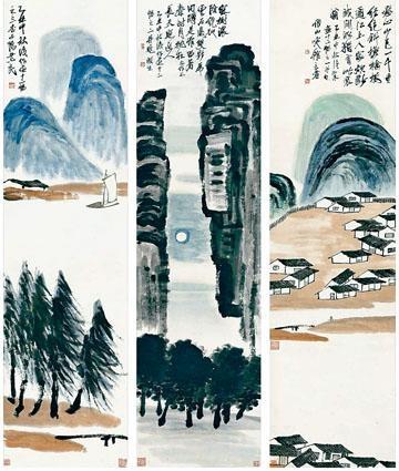 齊白石《山水十二條屏》,是史上估價最貴的中國藝術品。