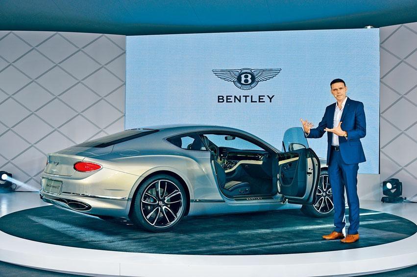 賓利汽車外觀設計經理Crispin Marshfield(圖),在淺水灣預覽會中分享全新Continental GT的設計精髓。