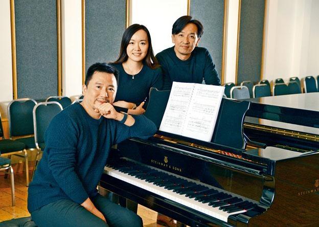 (左起)鋼琴家曾華琛、女高音鄺勵齡和男高音柯大衛。