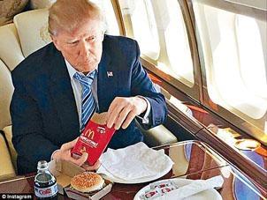 特朗普愛吃麥當勞餐。