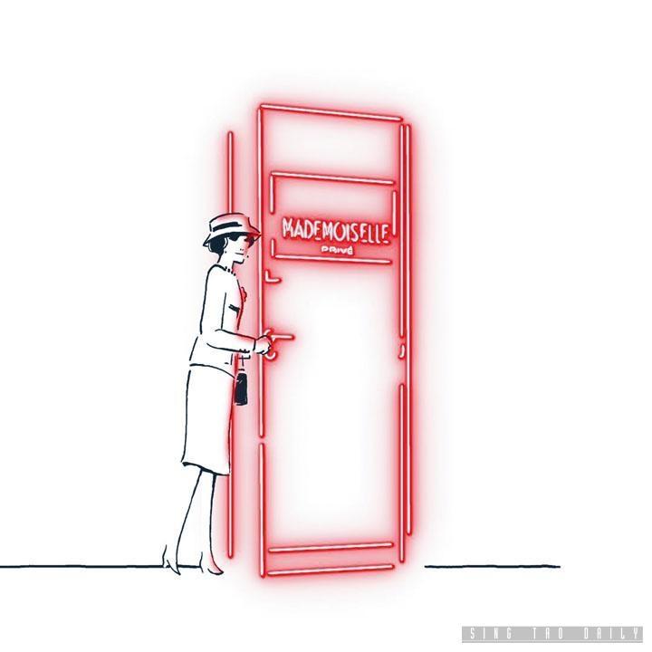 展覽宣傳片中的紅色霓虹燈,勾勒了Chanel女士的身影,歡迎大家走進這趟巴黎的時尚文化傳奇之旅。