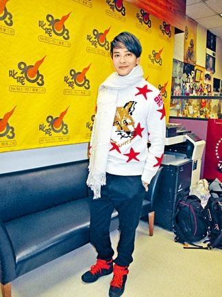 ■陳曉東到電台宣傳下月的澳門演唱會。