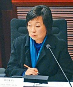 ■教育局副局長蔡若蓮強調當局重視小童的幸福、生命和安全。