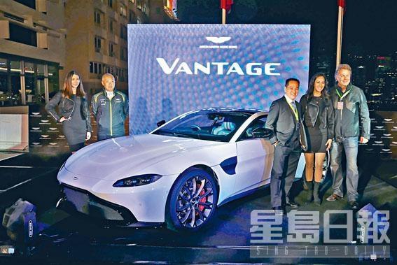 Aston Martin香港代理MF Jebsen公司主席Markus F.Jebsen,聯同董事總經理Gordon Choy一同主持揭幕禮。